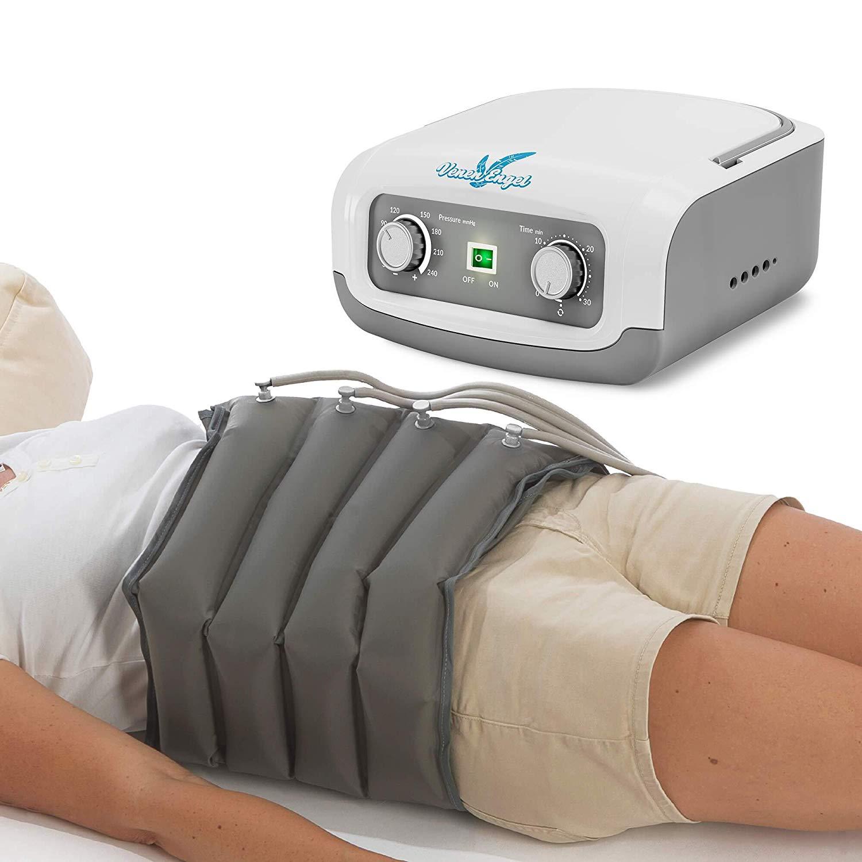 Vein Angel 4 Apparecchio per massaggi a onde con fascia addominale, 4 camere d'aria, pressione & durata facilmente regolabili, no pressoterapia