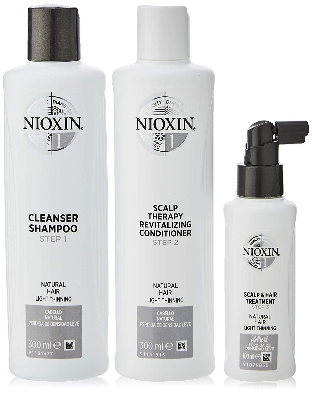 Nioxin Kit Trifasico Sistema 1 per Capelli Naturali Leggermente Assottigliati - 300 ml - 700 ml