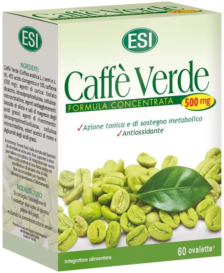 CAFFÈ VERDE 500 MG : INTEGRATORE NATURALE ANTIOSSIDANTE E PER IL CONTROLLO DEL PESO