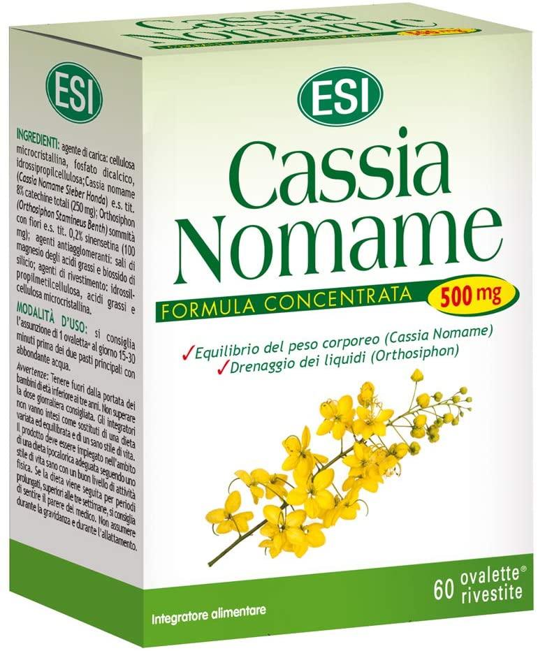 CASSIA NOMAME : INTEGRATORE ALIMENTARE A BASE DI CASSIA NOMAME E ORTHOSIPHON, FORMULA CONCENTRATA