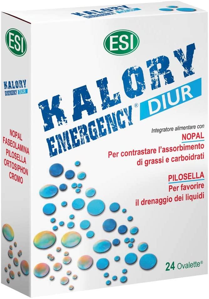 KALORY EMERGENCY DIUR : INTEGRATORE DIURETICO PER L'ASSORBIMENTO DI GRASSI E CARBOIDRATI